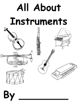 What Instrument Do You Hear? Color and Black White Copy (5 senses)