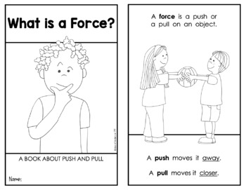 FORCE and MOTION {Emergent Science Reader} Push and Pull