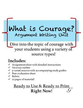 Samples Of Persuasive Essays For High School Students What Is Courage Argument Unit Compare And Contrast Essay Sample Paper also Samples Of Persuasive Essays For High School Students What Is Courage Argument Unit By Georgina Dibble  Tpt Learn English Essay Writing