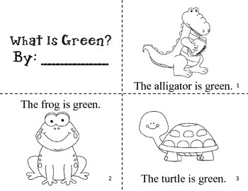 What Is Green? Easy Reader Color Book / Common Core Aligned