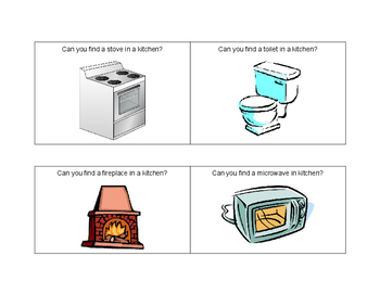What Is In A Kitchen? - Task Cards