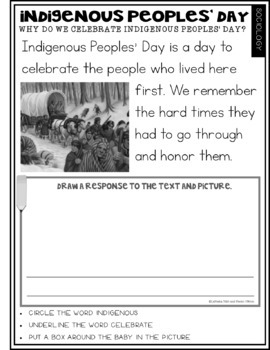 What Is Indigenous Peoples' Day?: FREEBIE