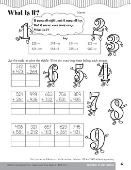 What Is It? (Addition/Subtraction 100-1,000 without Regrouping)