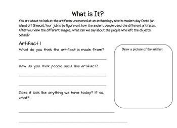 What Is It? Artifact Worksheet