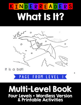 What Is It - Bats - Reproducible Multi-Leveled Guided Reading Book