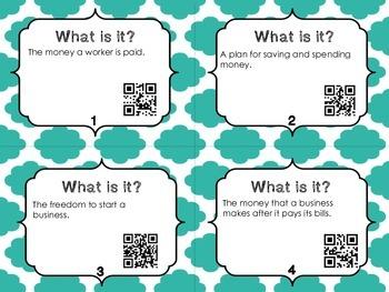 What Is It? Economics with QR Codes