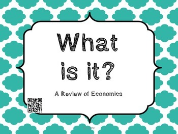 What Is It? Economics with QR Codes