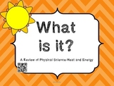 What Is It?  Heat and Energy Vocabulary with QR codes