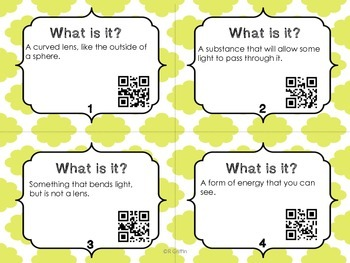 What Is It? Light Vocabulary with QR Codes