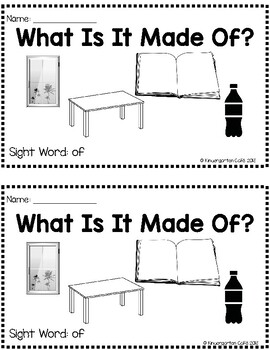 "What Is It Made Of? A Sight Word Emergent Reader ""of"""
