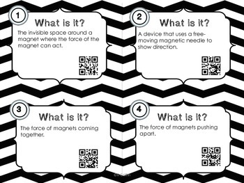What Is It?  Magnets Vocabulary with QR codes