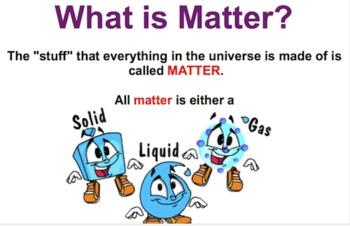 What Is Matter FOSS SMART Notebook Lesson
