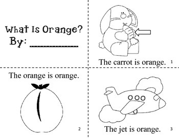 What Is Orange? Easy Reader Color Book / Common Core Aligned