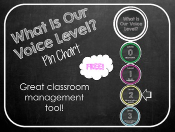 What Is Our Voice Level? Pin Chart