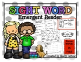What Is Red? -SIGHT WORD Emergent Reader w/ worksheets -Fo