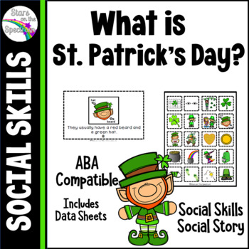 St. Patrick's Day Social Story and Social Skills Autism