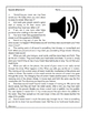 What Is Sound?: Informational Passage and Assessment