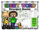 What Is That?-SIGHT WORD Emergent Reader w/worksheets -Foc