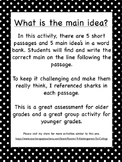 What Is The Main Idea? Matching the main idea with the cor
