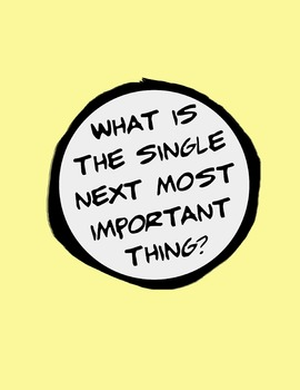 What Is The Single Next Most Important Thing? 8.5 x 11 Classroom Poster