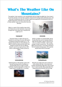 What Is The Weather like On Mountains?