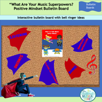 What Is Your Music Superpower Bulletin Board Kit