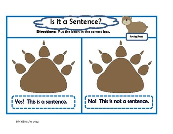 What Is a Sentence?  3 No-Prep or Minimal Prep Grammar Centers