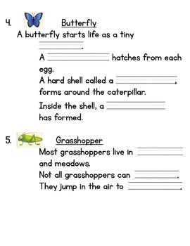 What Is an Insect? Informational Writing Online Research Activity