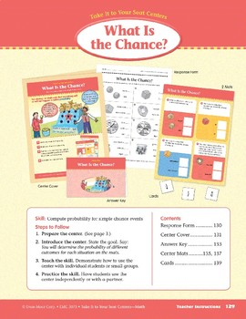 What Is the Chance? (Take It to Your Seat Centers Common Core Math)