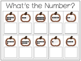 What Is the Number Pumpkin Counting Work Mats/Worksheets. Preschool-KDG Math.