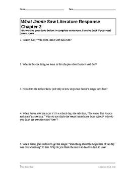What Jamie Saw Literature Study Unit (editable)