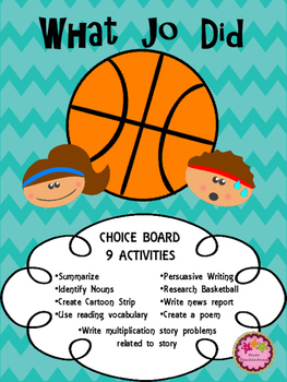 What Jo Did Activities - Choice Board