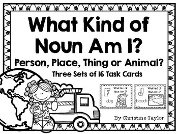 What Kind of Noun Am I?  Task Cards/Roam the room