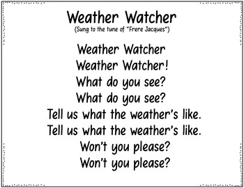 What Kind of Weather Do We Have Today? (Two Pocket Chart Weather Poems)