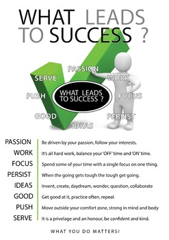 What Leads to Success - A1 Poster