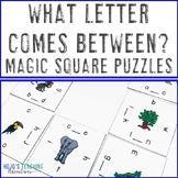 What Letter Comes Between? Literacy Center Game