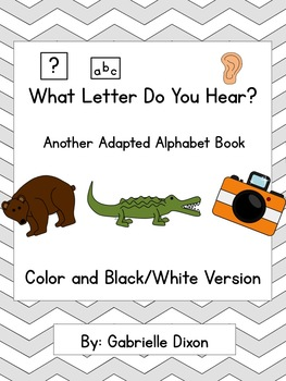 What Letter Do You Hear? Another Adapted Alphabet Book for Students with Autism