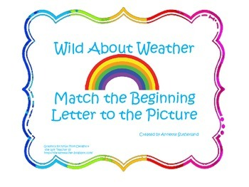 Wild About Weather-What Letter Does the Picture Begin With?