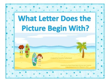 At the Beach-What Letter Does the Picture Begin With?