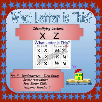 What Letter is This?  Letter Identification X, Z