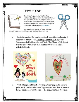 What Lives in My Heart-- A Valentine's Art Project about Love