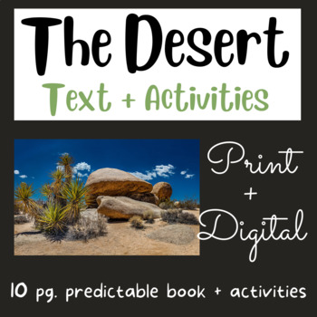 What Lives in the Desert?  Early Reader #7 (using Fry 1st 100 Words)