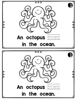 Who Lives in the Ocean?  emergent reader