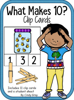 What Makes 10? ~ Clip Cards ~Fireflies