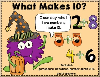 What Makes 10?  Halloween Themed