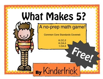 What Makes 5? {A Print and Play Activity}