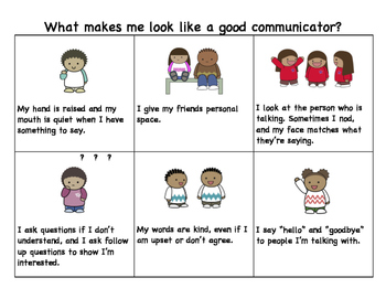 What Makes Me Look Like a Good Communicator? Visual Aid
