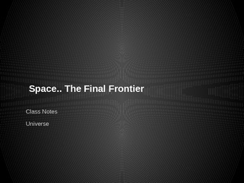 What Makes Up Space PPT