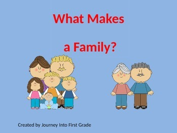 What Makes a Family (Unit 1) Journeys Kindergarten Common Core Reading Series