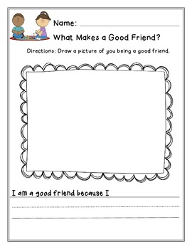 What Makes A Good Friend Or I Am A Good Friend By Corey